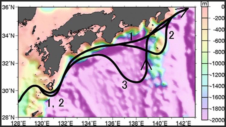 黒潮の流路のパターン